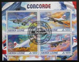 Poštovní známky Sierra Leone 2018 Concorde Mi# 9669-72 Kat 11€