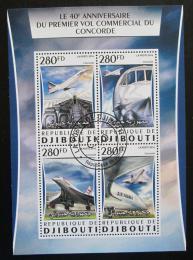 Poštovní známky Džibutsko 2016 Concorde, 40. výroèí Mi# 1084-88 Kat 12€