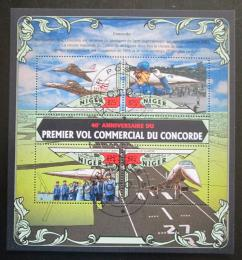 Poštovní známky Niger 2016 Concorde, 40. výroèí Mi# 4072-75 Kat 13€