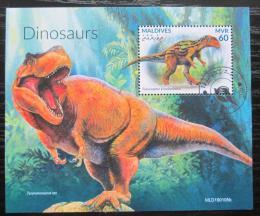 Poštovní známka Maledivy 2018 Dinosauøi Mi# N/N