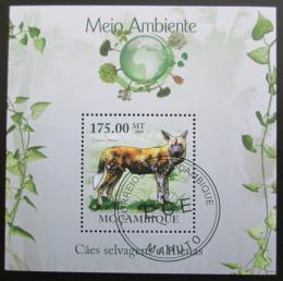 Poštovní známka Mosambik 2010 Pes hyenový Mi# Block 305 Kat 10€