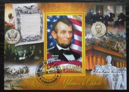 Poštovní známka Pobøeží Slonoviny 2013 Prezident Abraham Lincoln Mi# N/N