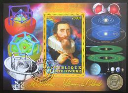 Poštovní známka Pobøeží Slonoviny 2013 Johannes Kepler Mi# N/N