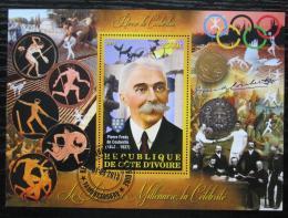 Poštovní známka Pobøeží Slonoviny 2013 Pierre de Coubertin, MOV Mi# N/N