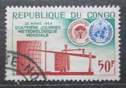 Poštovní známka Kongo 1964 Svìtový den meteorologie Mi# 42
