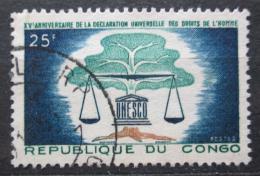 Poštovní známka Kongo 1963 Lidská práva, UNESCO Mi# 38