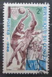 Poštovní známka Kongo 1966 Basketbal Mi# 97