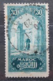 Poštovní známka Francouzské Maroko 1927 Mìstská brána Mi# 60