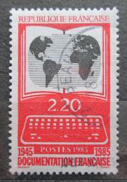 Poštovní známka Francie 1985 Mapa svìta Mi# 2522