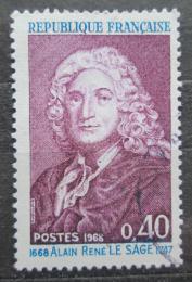 Poštovní známka Francie 1968 Alain-René Lesage, spisovatel Mi# 1623