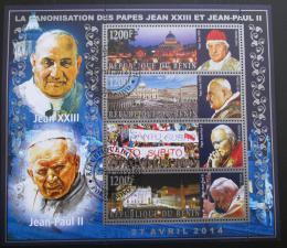 Poštovní známky Benin 2014 Papež Jan Pavel II. Mi# N/N