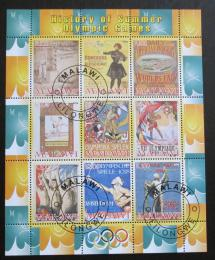 Poštovní známky Malawi 2008 Historie olympijských her Mi# N/N