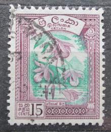 Poštovní známka Cejlon 1958 Orchideje Mi# 300