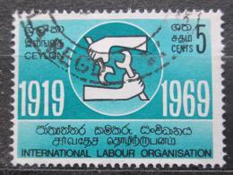 Poštovní známka Cejlon, Srí Lanka 1969 ILO, 50. výroèí Mi# 385