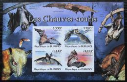 Poštovní známky Burundi 2011 Netopýøi neperf. Mi# Block 160 B