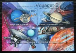Poštovní známky Burundi 2012 Voyager 2, 35. výroèí Mi# 2978-81 Kat 10€