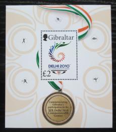 Poštovní známka Gibraltar 2010 Hry Commonwealthu Mi# Block 96