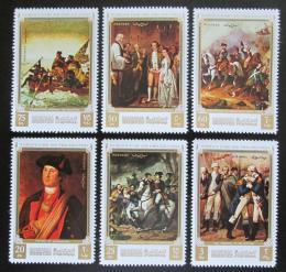 Poštovní známky Manáma 1971 Umìní, vznik USA Mi# 793-98