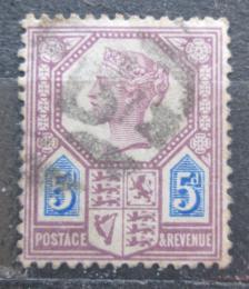 Poštovní známka Velká Británie 1887 Královna Viktorie Mi# 93 Kat 9€