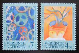 Poštovní známky OSN Vídeò 1998 Deklarace lidských práv, 50. výroèí Mi# 268-69