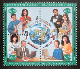 Poštovní známky OSN Vídeò 1999 UPU, 125. výroèí Mi# 294-97