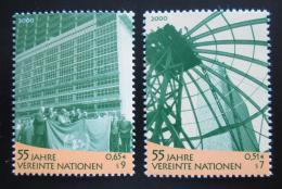 Poštovní známky OSN Vídeò 2000 Vznik OSN, 55. výroèí Mi# 309-10