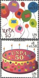 Poštovní známky OSN Vídeò 2001 UNPA, 50. výroèí Mi# 342-43