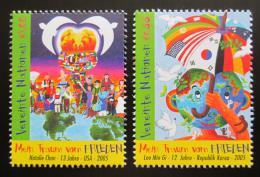 Poštovní známky OSN Vídeò 2005 Dìtské kresby Mi# 451-52