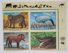 Poštovní známky OSN Vídeò 1997 Fauna roh Mi# 222-25