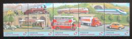 Poštovní známky OSN Vídeò 1997 Dopravní prostøedky Mi# 231-35 Kat 7€