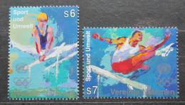 Poštovní známky OSN Vídeò 1996 Novodobé olympijské hry Mi# 214-15