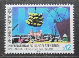 Poštovní známka OSN Vídeò 1990 Mezinárodní obchodní centrum Mi# 98