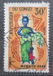 Poštovní známka Kongo 1967 Místní kroj Mi# 131