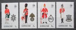 Poštovní známky Gibraltar 1971 Vojenské uniformy Mi# 279-82 Kat 9€