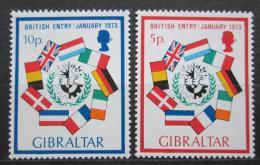 Poštovní známky Gibraltar 1973 Vstup Velké Británie do EHS Mi# 297-98