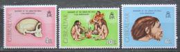 Poštovní známky Gibraltar 1973 Nález Gibraltarské lebky Mi# 299-301 Kat 5€