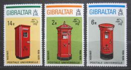 Poštovní známky Gibraltar 1974 UPU, poštovní schránky Mi# 310-12