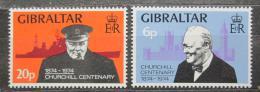 Poštovní známky Gibraltar 1974 Winston Churchill Mi# 319-20
