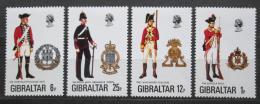 Poštovní známky Gibraltar 1976 Vojenské uniformy Mi# 338-41