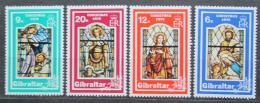 Poštovní známky Gibraltar 1976 Vánoce, náboženské umìní Mi# 342-45