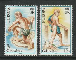 Poštovní známky Gibraltar 1981 Evropa CEPT, folklór Mi# 416-17