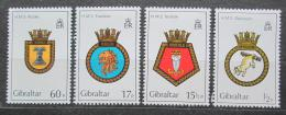 Poštovní známky Gibraltar 1982 Lodní heraldika Mi# 447-50