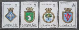 Poštovní známky Gibraltar 1987 Lodní heraldika Mi# 521-24 Kat 8€