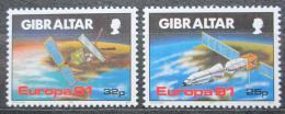 Poštovní známky Gibraltar 1991 Evropa CEPT, prùzkum vesmíru Mi# 613-14