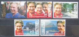 Poštovní známky Gibraltar 1992 Královna Alžbìta II. Mi# 633-37