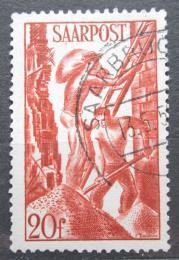 Poštovní známka Sársko 1948 Stavební dìlníci Mi# 250