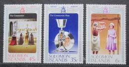 Poštovní známky Šalamounovy ostrovy 1977 Vláda Alžbìty II., 25. výroèí Mi# 331-33