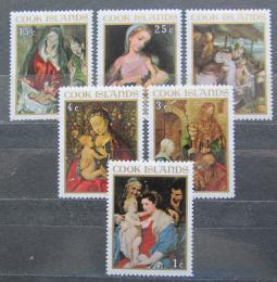 Poštovní známky Cookovy ostrovy 1967 Vánoce, umìní Mi# 176-81