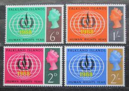 Poštovní známky Falklandské ostrovy 1968 Mezinárodní rok lidských práv Mi# 157-60