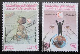 Poštovní známky S.A.E. 1990 Èervený pùlmìsíc Mi# 306-07